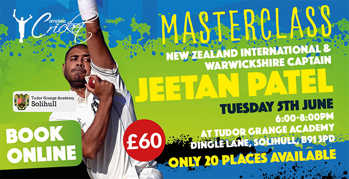 Jeetan Patel Masterclass – June 2018