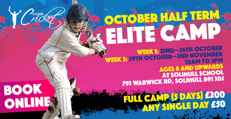 Complete Cricket October Half Term Elite Course Solihull School 2018 Week 1