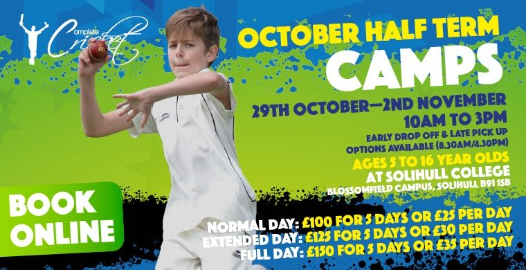 Complete Cricket October Half Term Course Solihull College 2018