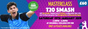 T20 Smash Masterclass Jan 2019 | Solihull College | Complete Cricket