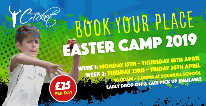 Complete Cricket Solihull Easter Camp 2019
