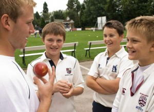 Complete Cricket coach, Tom Smith with students