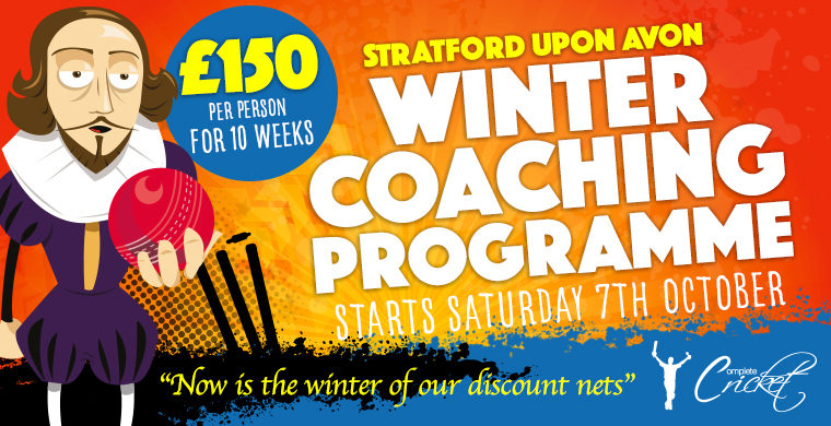 Complete Cricket Winter Coaching Programme in Stratford upon Avon